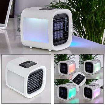 Ventilateur de table Chania LED Noir, Blanc, 1 lumière, Changeur de couleurs