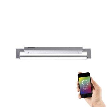 Applique Murale / Plafonnier Paul Neuhaus Q-Matteo LED Aluminium, 1 lumière, Télécommandes