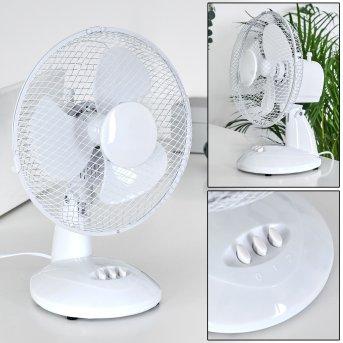 Ventilateur de table Sopot Chrome, Blanc
