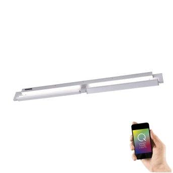 Applique Murale / Plafonnier Paul Neuhaus Q-Matteo LED Aluminium, 2 lumières, Télécommandes