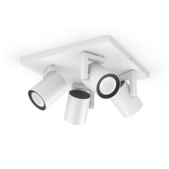 Spot pour plafond et mur, kit d'extension Philips Hue Ambiance White & Color Argenta Blanc, 4 lumières, Changeur de couleurs