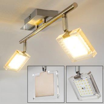 Plafonnier Kiruna LED Nickel mat, Chrome, 2 lumières