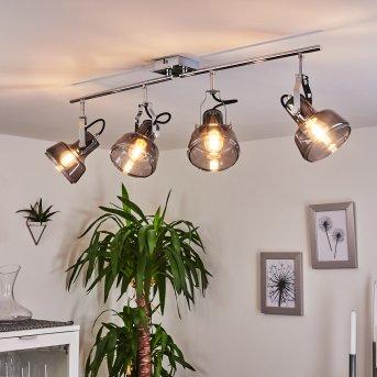 Plafonnier Lulea Chrome, 4 lumières