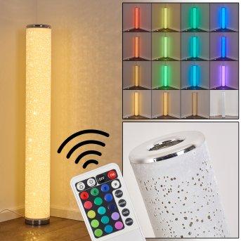Lampadaire Tumba LED Blanc, 1 lumière, Télécommandes, Changeur de couleurs