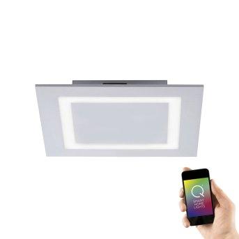 Plafonnier Paul Neuhaus Q-MIRAN LED Aluminium, 1 lumière, Télécommandes, Changeur de couleurs