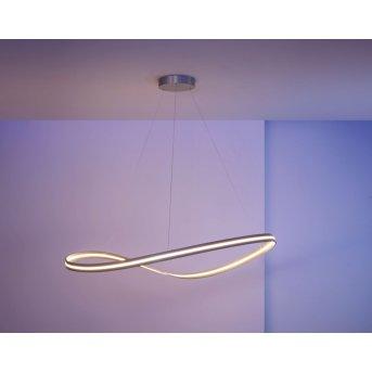 Suspension Escale Infinity LED Nickel mat, 1 lumière