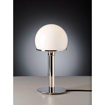 Wagenfeld 24 Tecnolumen Lampe à poser Nickel brillant, 1 lumière