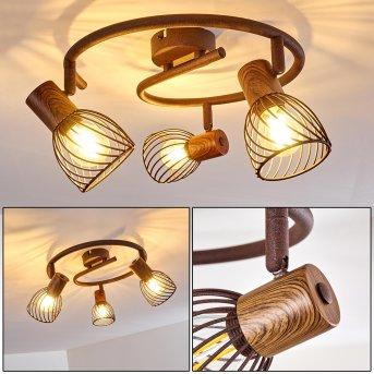 Plafonnier Arjen Rouille, 3 lumières