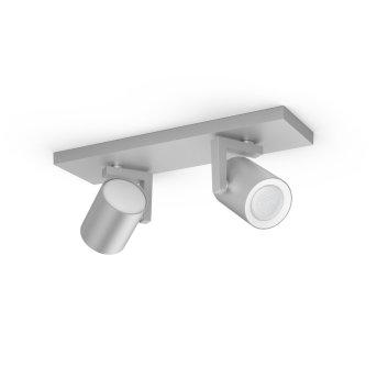 Spot pour plafond et mur, kit d'extension Philips Hue Ambiance White & Color Argenta Argenté, 2 lumières, Changeur de couleurs