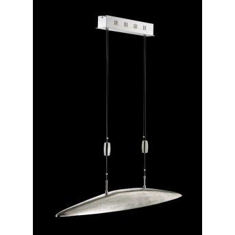 Suspension Fischer SHINE LED Nickel mat, 5 lumières
