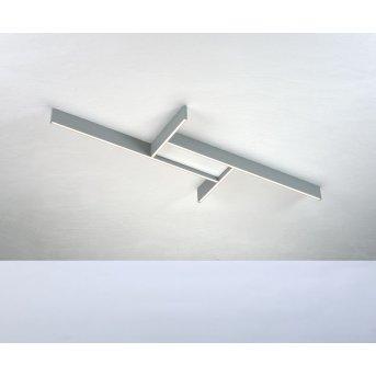 Plafonnier Bopp NANO PLUS BASIC LED Aluminium, Blanc, 1 lumière