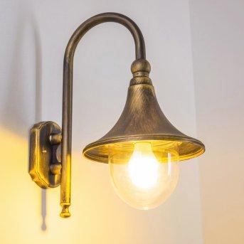 Applique extérieure Elgin Noir doré, 1 lumière