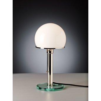 Wagenfeld 25 Tecnolumen Lampe à poser Nickel mat, Transparent, 1 lumière