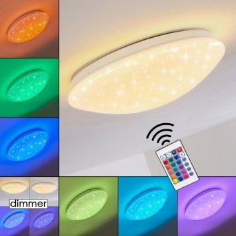 Plafonnier Norton Star LED Blanc, 1 lumière, Télécommandes, Changeur de couleurs