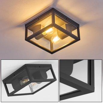 plafonnier extérieur Kiwalik Anthracite, 1 lumière