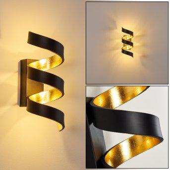 Applique murale Rezat LED Noir doré, 1 lumière