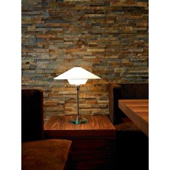 Wagenfeld 28 Tecnolumen Lampe à poser Nickel mat, Transparent, 1 lumière