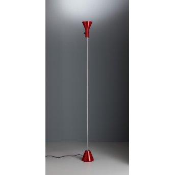 ES 57 LED Tecnolumen Projecteur Rouge, Chrome, 1 lumière