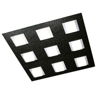 Plafonnier Grossmann BASIC LED Noir, 9 lumières