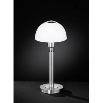 Lampe à poser Wofi AMBER Nickel mat, 1 lumière
