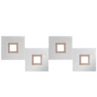Plafonnier Grossmann KARREE LED Aluminium, Cuivre, 4 lumières