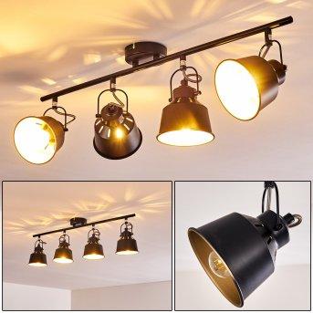 Plafonnier Safari Noir, 4 lumières