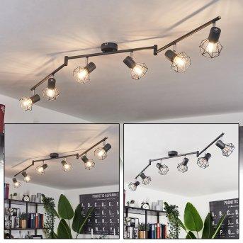 Plafonnier Gullspang Anthracite, 6 lumières