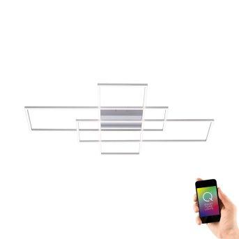 Plafonnier Paul Neuhaus Q-INIGO LED Nickel mat, 3 lumières, Télécommandes