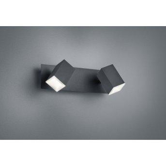 Applique murale Trio LAGOS LED Noir, 2 lumières