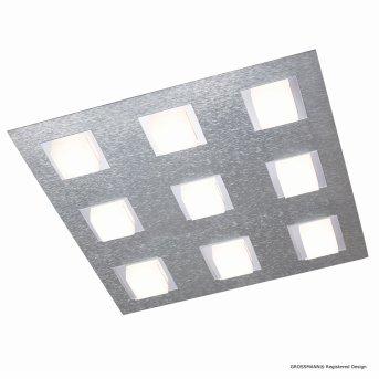 Plafonnier Grossmann BASIC LED Aluminium, 9 lumières