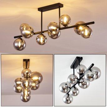 Plafonnier Chehalis LED Noir, 9 lumières