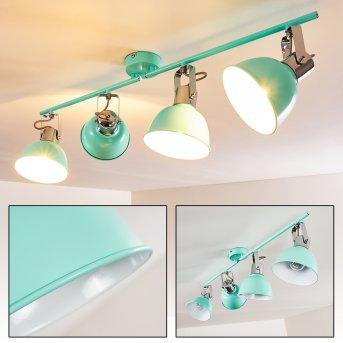 Plafonnier Dompierre Vert, Blanc, 4 lumières