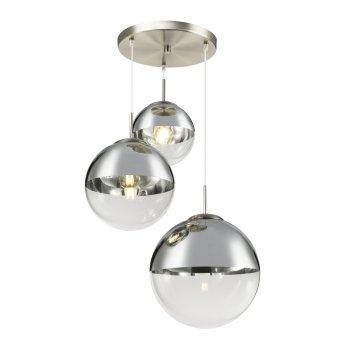 Suspension Globo VARUS Nickel mat, 3 lumières