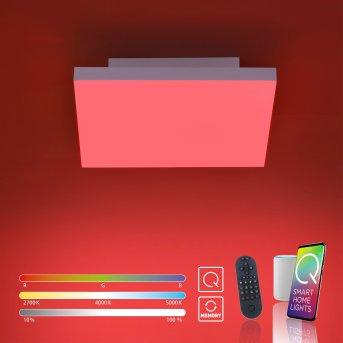 Plafonnier Paul Neuhaus Q-FLAG LED Blanc, 1 lumière, Télécommandes, Changeur de couleurs