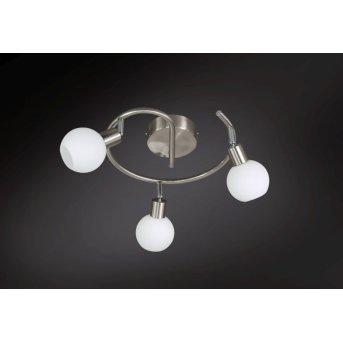 Plafonnier Wofi NOIS LED Nickel mat, 3 lumières
