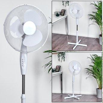 Ventilateur Niort Chrome, Blanc
