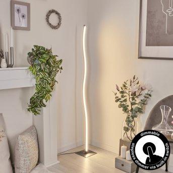 Lampadaire Soyo LED Nickel mat, 1 lumière