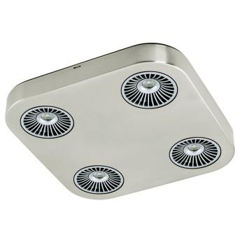 Plafonnier Eglo Montale LED Nickel mat, 4 lumières