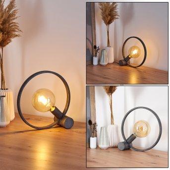 Lampe de table Darleg Noir, Gris, 1 lumière