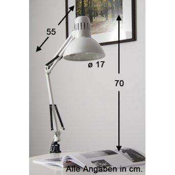 Lampe à pince Brilliant Hobby Blanc, 1 lumière