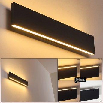Applique murale Obion LED Noir, 2 lumières